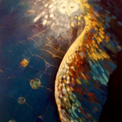 January 2014, Painting, Acrylic on canvas, The Protector by Sioux Storm, Fine Artist from Austin, Texas